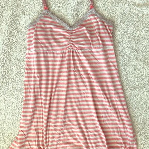 0f8fd37c461b0 Pink stripe Bump in the night L nursing gown. M_5b6afbfb1b16db622a5863f3
